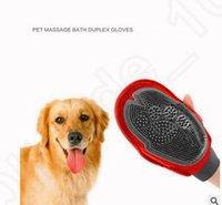 Wholesale Pet Cat Dog Puppy Grooming Massage Hair Mitt Bath Brush Comb Hair Removal Glove Long Short Hair Comb Hair Removal Glove KKA15