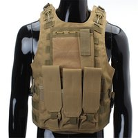 airsoft tactical vests paintball - Fall colors Hunting Shooting Military Airsoft Nylon Combat Paintball Tactical Vest Adjustable Outdoor Sports Canvas Fabric Type Cam