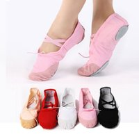 Wholesale 5 style children soft sole girls ballet shoes Women Ballet Dance Shoes for kids adults ladie exercise