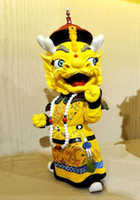 Wholesale hot sale the Newest Chinese character figure Series Forbidden City mascot dragon phoenix emperor queen resin statue car Decoration
