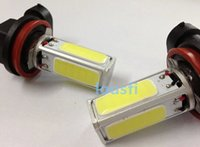 Wholesale 2PCS H11 LED High Power COB Auto LED Car Daytime Running Lights Car Styling Exterior Light Xenon the Parking