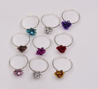 Wholesale Hot Fresh Colorful Little Flower Ring Resizable