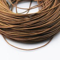 al por mayor cordón de cuero hacer pulseras-Cordón de cuero de la joyería de Beadsnice cordón de cuero redondo cuero genuino para el collar y la pulsera que hace el envío libre ID 3451