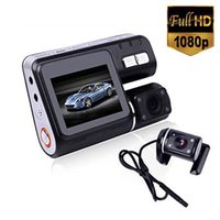 Wholesale i1000 HD P Dual Lens Camcorder Car DVR Dash Cam Black Box With Rear View Camera