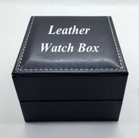 pillow gift box - Fashion PU Leather Watch Box Black Luxury Watch Box With Pillow Jewelry Box Gift Box Can Be Customized LOGO