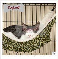 Wholesale FreeShipping Leopard Printed Fashion Cat Hammock Wild Time Cat Ferret Cage Synthetic Lamb s Wool Hammock Fashion Cat Beds C748