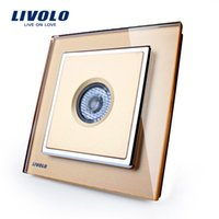 Wholesale Force Wal switch crystal glass panel wall switch panel sound and light control delay switch