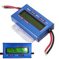 Wholesale 60V A Digital LCD Balance Voltage RC Battery Power Analyzer Watt Meter Wattage Tester Amps Servo Test Program Accuracy