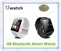 Wholesale U8 Smart Bluetooth Watches WristWatch U8 U Watch for iPhone Samsung S4 S5 Note Note HTC Android Phone Smartphones MQ100