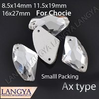 ax clothing - Sewing On Ax Type Holes x14mm x19mm X27mm Silver Base Crystal Button Beads Rhinestone For Clothing Decoration