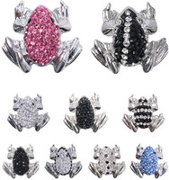 antique button hooks - Hot Sale Snap Buttons Jewelry mm Buttons Fashion DIY Charms Crystal Frog Snaps Antique Metal Buttons FF