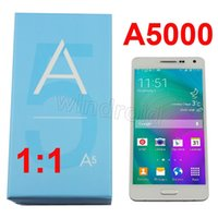 a5000 - 1 A5 A5000 inch Dual Sim Cell Phone MTK6582 Quad Core Android G G show G Metal Frame gesture G Smart Mobile Phones