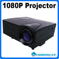 lcd projector hd - H80 HD Projector P Multimedia Lumens LED Home Theater LCD Game Projector AV VGA SD Card Slot USB HDMI Interface With Black White