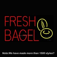 bagel gifts - New Fresh Bagel Custom Neon Sign Neon Bulbs Store Display Glass Tube Handcraft Recreation Advertising Great Gifts x14