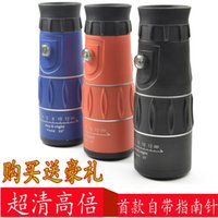 Cheap Hd wide angle monocular telescope night vision 16x52 1000 belt compass