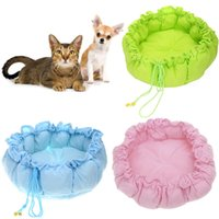 Wholesale Freeshipping New Pet Puppy Nest Dog Bed Dog Mat Kennel PP Cotton Lovely Nest Warm House Cozy Pumpkin Mat Colors wholesales