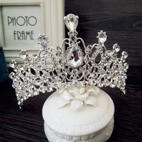 best hairbands - European Bride Queen Sabalok Rhinestone Hair Crown Princess Wedding Party Bride Crown In Stock Best Sale Wedding Accessry SHJ