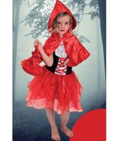 Wholesale kids halloween costumes set Little Red Riding Hood costume kids princess baby girl halloween cloak skirt bag halloween sets D1501