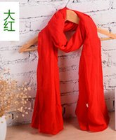 Wholesale Hot Fashion Spring and Autumn Long Scarf Womens Scarves Shawl Voile Scarf WJ1