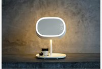 Wholesale MUID Multi Functional Cosmetic Mirror Table Lamp Rechargeable LED Desktop Mirror Make Up Lamp Creative Gift Mint Powder