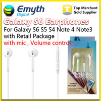 Wholesale S6 G920F S6 EDGE G925 HEADSET WHITE EO EG920BW Stereo Earphones Headset Top Quality For Galaxy S4 S5 S6 Note with retail pkg