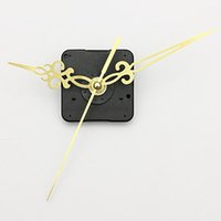 Wholesale New Gold Hands DIY Quartz Black Wall Clock Spindle Movement Mechanism Repair Parts order lt no tracking
