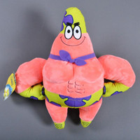 Wholesale Character Patrick - 40pcs 33 cm Patrick star plush toy Cartoon Movie characters Patrick stuffed soft doll cute kids toys christmas gifts for children 201510HX