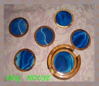 agate coasters - Brought back from Brazil pure natural agate coasters NO