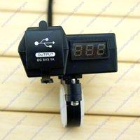 Wholesale 2 USB Port Phone Charger Voltage Volt Meter Kit Motorcycle ATV Quad Handlebar
