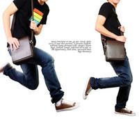 Wholesale New Fashion Men Messenger Bag PU Leather Flap Vintage Shoulder bags Cross Body Bag Coffee Bolsas Travelling Bag High Quality B0014