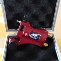 aircraft materials - Professional Tattoo Machine Gun Electric Aircraft Alloy tatoo rotary well Balanced liner shader red with box power supply