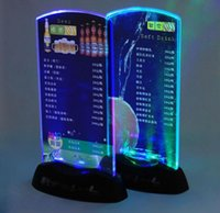 led bar table - Restaurant Hotel Bar KTV Night Club Led Table Menu Display Table illuminated Led Menu Led Acrylic Menu Stand Holder Coffee Shop Dessert