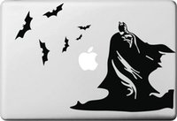 Wholesale Much Black Bats and Batman Decal for apple Macbook Sticker Air Pro Retina Computer Car Wall Vinyl Stickers