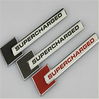 audi supercharged badge - Red Black Gray Full Metal Supercharged D Car Badges Emblems Turbo Chrome Metal Car Tail Decals Stickers for A4L A5 A6L Q5 Q3 Accessory