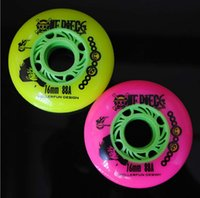 Wholesale rollerfun A inline roller skating wheels mm mm MM Inline roller Skate Wheels Red green color