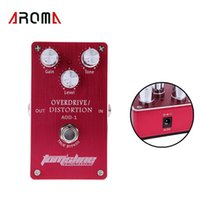 Cheap Designed with ON OFF LED Guitar Pedal Overdrive Distortion Electric Guitar Effect Pedal Built-in FET Transistor