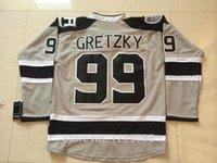 ashes series - 2014 Stadium Series LA Kings Hockey Jerseys Wayne Gretzky Jersey Silver Ash Grey Los Angeles Kings Stitched Jerseys C Patch