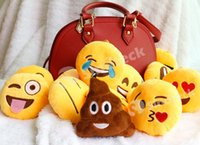 Wholesale DHL QQ Christmas Emoji Pillows Bolster Smile Cartoon Stuffed Toy Plush Toy Pendant Key Chains Emotion Round Cushion Factory Direct CM