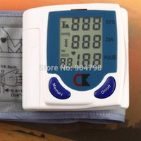 Wholesale 4 Digital LCD Wrist Cuff Arm Blood Pressure Monitor Heart Beat Meter Machine YKS