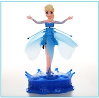 Wholesale Fancy New Frozen Princess Fairy Flying Elsa Toys Quick Activate Induction Fly For Kids Toys Christmas Gifts