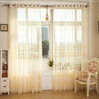Wholesale New Sheer Curtains Window Curtain Shipping Home Decoration Fashion Quality Lace Tulle for living room
