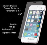 Wholesale For iPhone6 Plus S s Tempered Glass Screen Protector film H Explosion Proof scratch proof samsung Galaxy s6 Note5 i9600 s5 s4