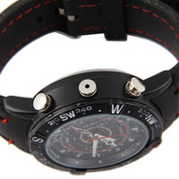 Wholesale Camcorders Wrist spy Watch GB Spy Camera watch Audio Video Voice Recorder pinhole camera watch
