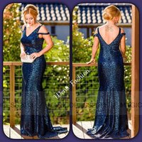 club - Charming Black Sequins Evening Dresses Long Formal Prom Gowns Occasion Dress Mermaid Off Shoulder Pleated Party Celebrity Gowns Dubai