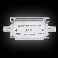 Wholesale High Quality Satellite Dish Signal Inline Amplifier Booster Drop Shipping