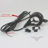 Wholesale Motorcycle Switches Wires Finger Change Speed Switch E bike Mini Bike Electric Bicycle Scooter