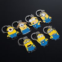 spike ball - 2015 New Arrival Cartoon Despicable Me Keychains Despicable Me Stuffing Pendants dolls for children style minions Key chain gift