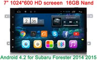 Wholesale 7 inch HD1024 Android CAR DVD GPS FOR Subaru Forester WIFI G Radio Navigation Bluetooth Mirror Link map