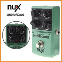 Wholesale Mini NUX Drive Core Guitar Violao Parts Electric Effect Pedal Mixture of Boost and Overdrive Sound True Bypass Via DHL