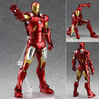 Wholesale Avengers Hands To Do Genuine cm Iron Man MK7 Action Figure Red Boxed Beautifully Hand Model Weight